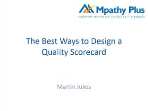The Best Way to Design a Quality Scorecard