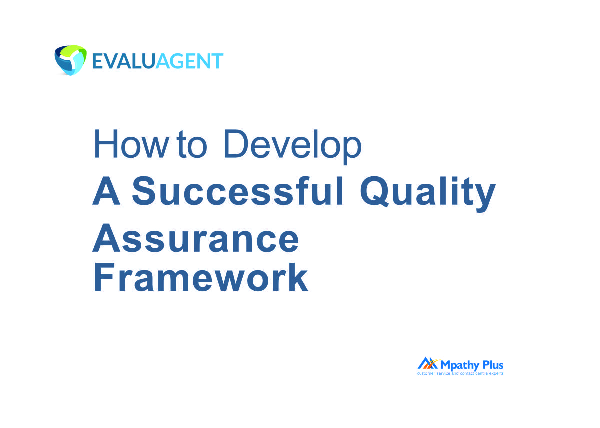 How to Develop a Quality Assurance Framework