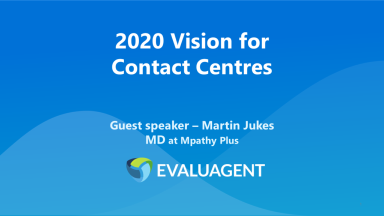 2020 vision for Contact Centres